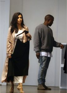 Kim Kardashian and Kanye West spotted at The intersection